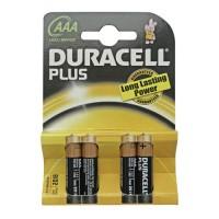 Scatola 10 blister di 4 unità di batterie Plus LR 03 (AAA) alcaline DURACELL