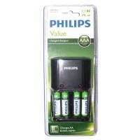 Caricatore di batterie ricaricabili R3 (AAA) - R6 (AA) include 4 x AA recarg. 800mAh PHILIPS