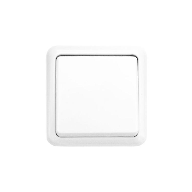 Interruttore da parete a supeficie, color bianco