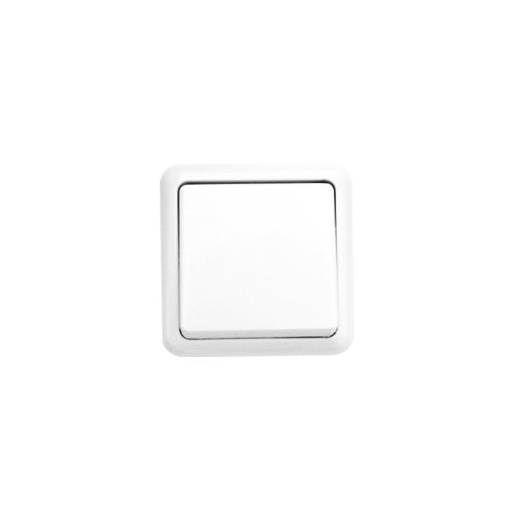 Commutatore da parete a superficie, color bianco