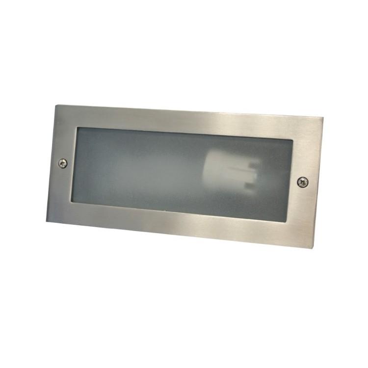 Lampada applique da incasso a parete esteriore in alluminio E27 60W IP54