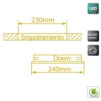 Faretto LED da incasso 20W - nichel satinato, 1800lm 4200K Luce naturale