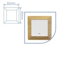 Placca per presa a incasso 1 posto color legno 82x82cm
