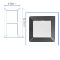 Placca per presa a incasso 2 posti color grigio antracite 82x154cm