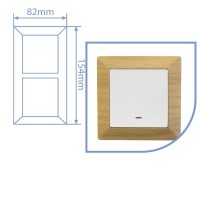 Placca per presa a incasso 2 posti color legno 82x154cm