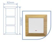 Placca per presa a incasso 3 posti color legno 82x226cm.