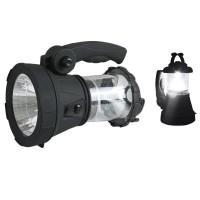 Torcia LED ricaricabile 1W - Multiuso con posizione lanterna a 15 led alta luminosità