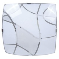 Plafoniera quadrata 2xE27 20W/60W color bianco
