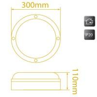 Plafoniera circolare E27 20W/60W color bianco