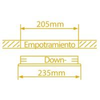 Downlight tondo Ø235 da incasso 2 x E27 x 25W - Nichel satinato