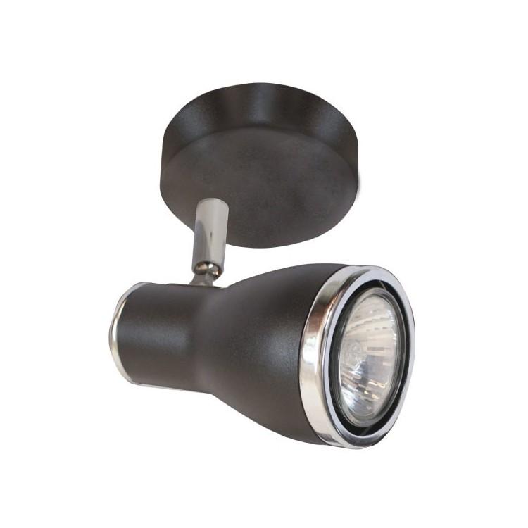 Plafoniera da soffitto con 1 faretto GU10 50W nero