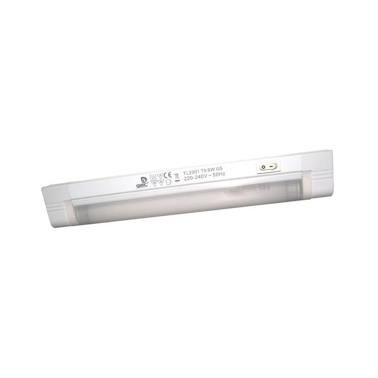 Lampada sottopensile 1 tubo fluorescente T5 8W 345mm 4200K