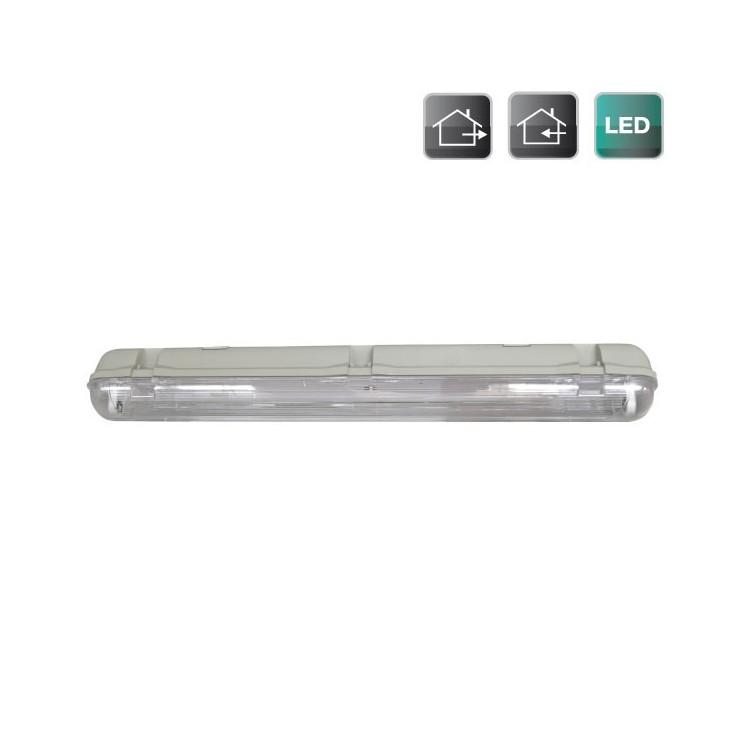 Plafoniera stagna per tubo LED T8 da 60cm (equival. 1x18W)