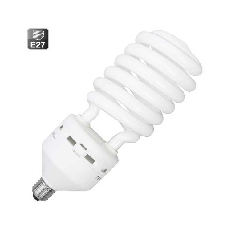 Lampadine a spirale E27 65W 4100Lm 6400K a basso consumo Luce fredda