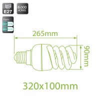Lampadine spirale E27 85W 4810Lm 6400K a basso consumo Luce fredda