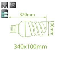 Lampadine spirale E40 85W 4810Lm 6400K a basso consumo Luce fredda