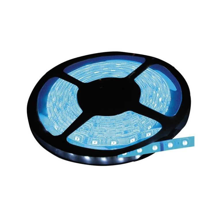 Rotolo di 5 metri LED 7,2W/mt color blu, 320LM