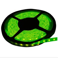 Rotolo di 5 metri LED 7,2W/mt color verde, 320LM