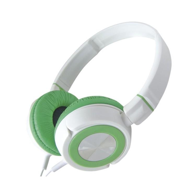 Cuffie stereo color bianco da Ø50mm. Filo da 1.5mt . Jack 3.5mm