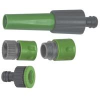 "Kit raccordi rapidi + lancia per tubo in PVC. Ø3/4"""