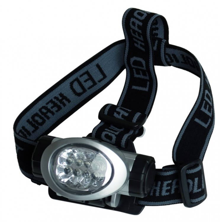Torcia frontale  8 LED con cinghie regolabili
