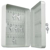 Cassetta metallica portachiavi. 48 mazzi di chiavi