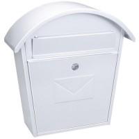 Casella di posta da esterno color bianco. Capacità per DIN A-4