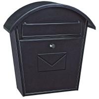 Casella di posta da esterno color nero. Capacità per DIN A-4