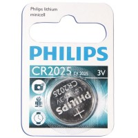 Scatola da 10 blister pila a bottone - Lithium Philips CR2025 3V - Blister 1 unità