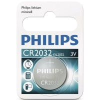 Scatola da 10 blister pila a bottone - Lithium Philips CR2032 3V - Blister 1 unità