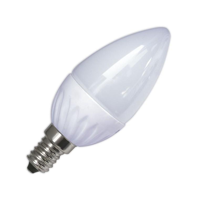 Lampadine LED candela in ceramica 4W E14 320lm 6000K Luce fredda