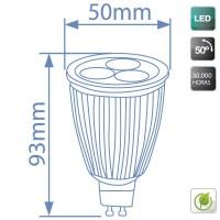 Lampadine LED GU10 9W 420 lumen 2700K 50º