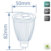 Lampadine LED MR16 7,5W 350lm 6400K 50º