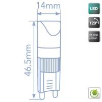 Lampadine LED G9 2W - 140 Lumen, 6000K