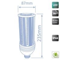 Lampada industriale LED E40 60W 5700 lumen, Luce fredda