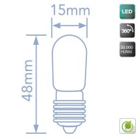 Lampadine LED per frigorifero E14 1.2W 100lm 6400K 360º
