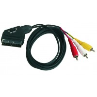 Collegamento Audio video stereo.SCART 21 PIN maschio a maschio RCA 3