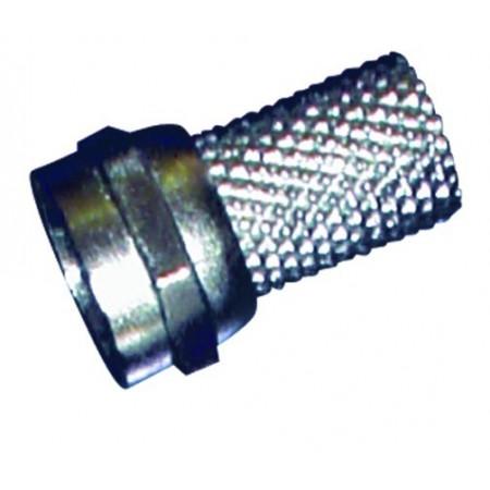 Maschio coppia F-connettore per cavo coassiale di 7 mm.