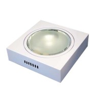 Downlight di superficie quadrato  2 x E27 x 25W - bianco