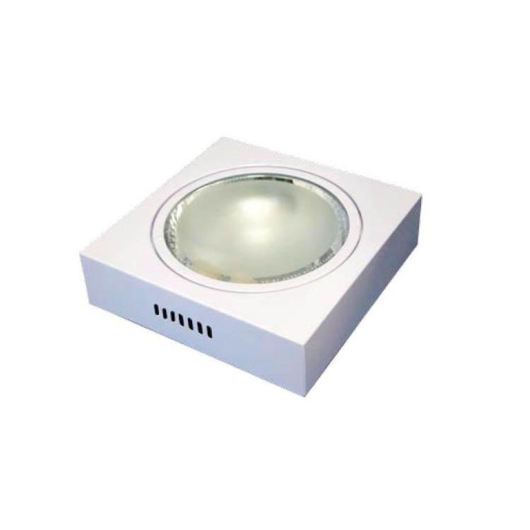 Downlight di superficie quadrato  2 x E27 x 25W - bianco