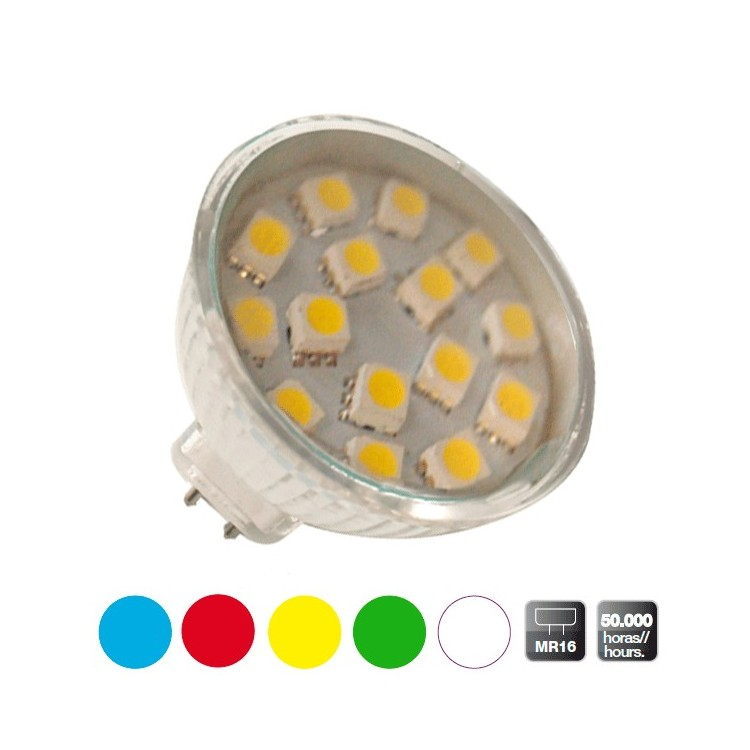 Scatola da 10 lampadine LED decorative MR16, giallo