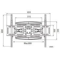 """Staffa montaggio a muro TV LCD / Plasma da 42"""" - 60"""""""