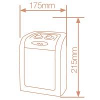 Stufa elettrica ceramica oscillante girevole verticale 1500W / 750W