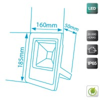 Proiettore LED ultrapiatto 10W 500lm 6400K