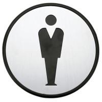 """Simbolo per bagno Ø97mm - """"Signori"""""""