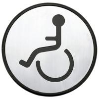 """Simbolo per bagno Ø97mm - """"Invalidi"""""""