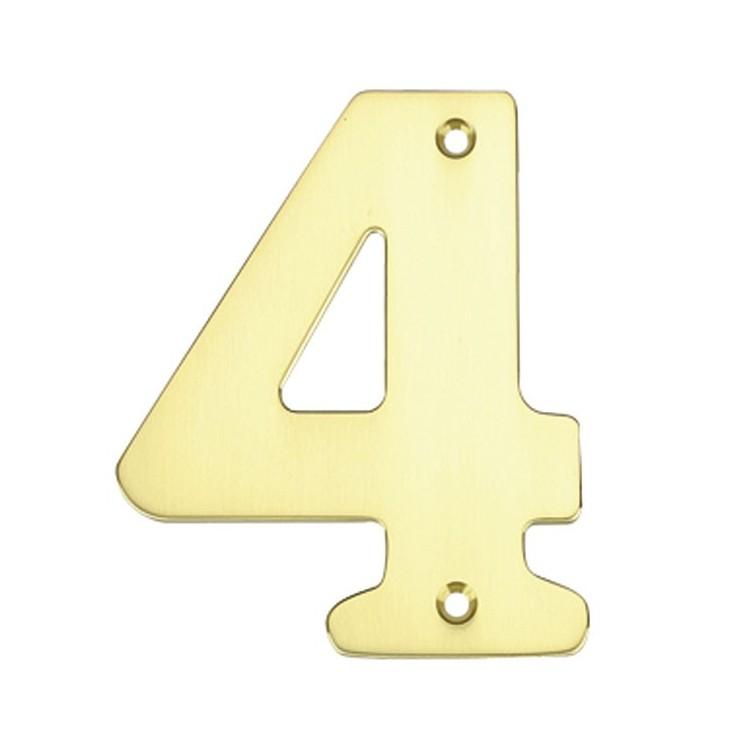 """Numero porta da esterno in acciaio inox """"4"""""""