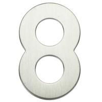 """Numero porta da esterno in acciaio inox """"8"""""""