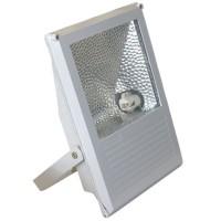 Proiettore alogenuro 150W con reattanza incorporata lampada R7s 230V IP65 uso esterno color grigio
