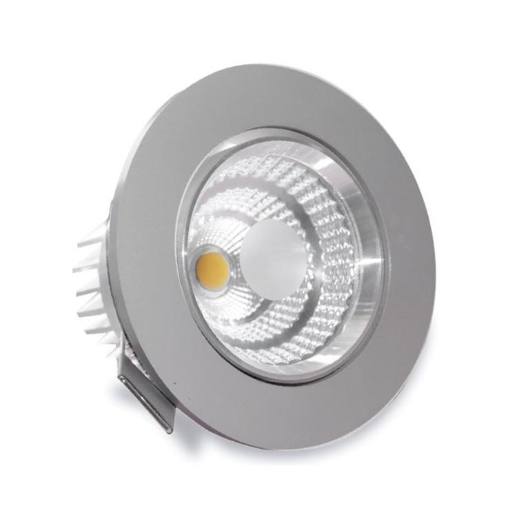 Faretto a incasso LED 9W 810LM 3000K - nichel satinato